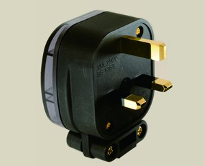 MS HD Power MS328G 13A UK mains plug, gold plated.