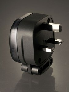 MS HD Power MS328S 13A UK mains plug, silver plated.
