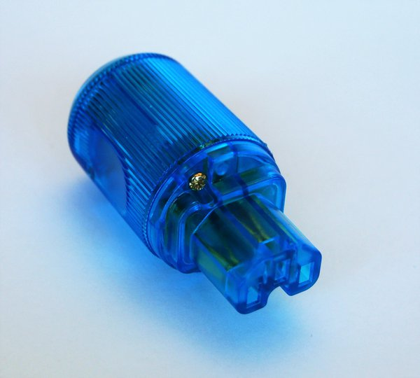 MS HD Power MS-9315GK IEC Plug, 'The Blue' Gold plated